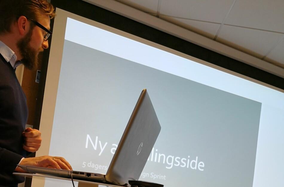 Her fra en annen presentasjon. FOTO: Anita Kristoffersen
