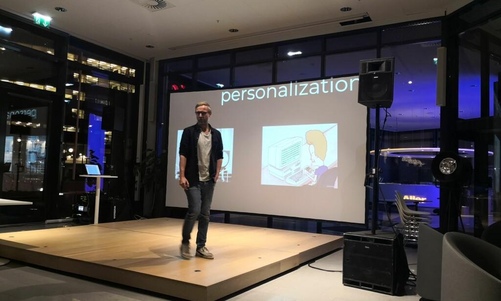Kjetil Laumann om personalisering i Aller Media. Foto: Anita Kristoffersen