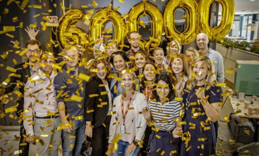 Lite glimt fra feiringen av 60000 abonnenter på dagbladet pluss. FOTO: Jørn H. Moen / Dagbladet.
